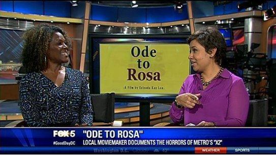 Allison Seymour of Fox 5 GoodDayDC interviews Eulonda Kay Lea