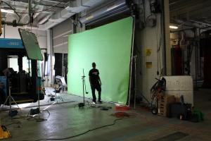Giant green screen!!